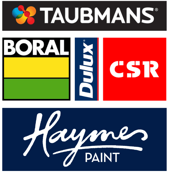 Brands you know and love used by Painters Brisbane Premium Painting and Plastering to transform your home